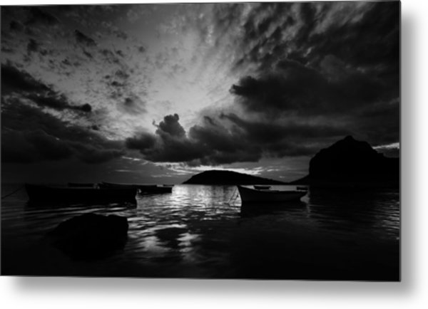 Docked At Dusk Metal Print
