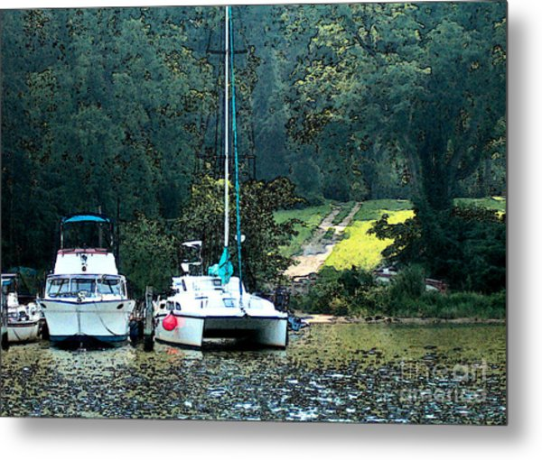 Docked On Chesapeake Bay Metal Print