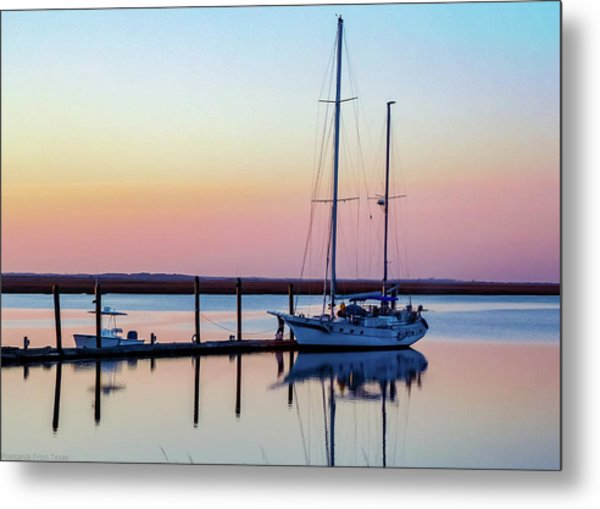 Docked On Jekyll Island Metal Print