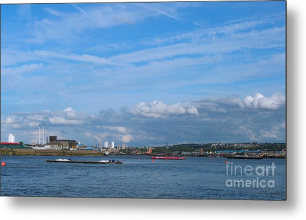 Docklands And Skyline Metal Print
