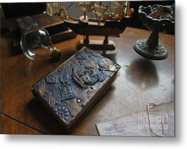 Doctor Who Steampunk Journal  Metal Print