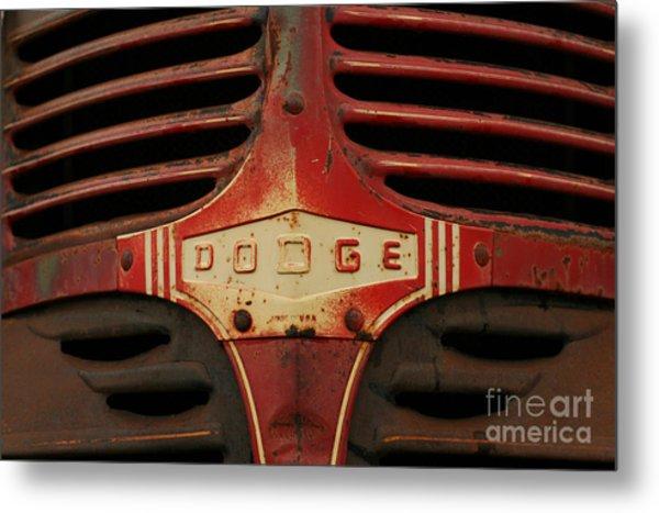 Dodge 41 Grill Metal Print
