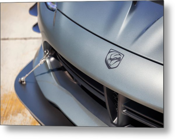 Metal Print featuring the photograph #dodge #acr #viper #print by ItzKirb Photography