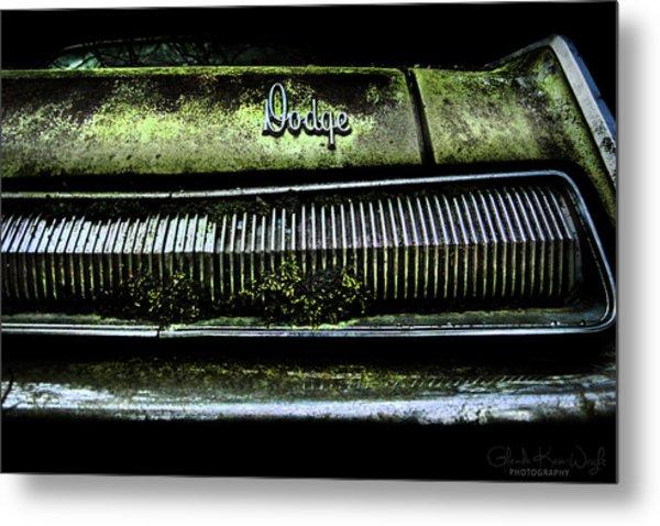 Dodge Green Grin Metal Print