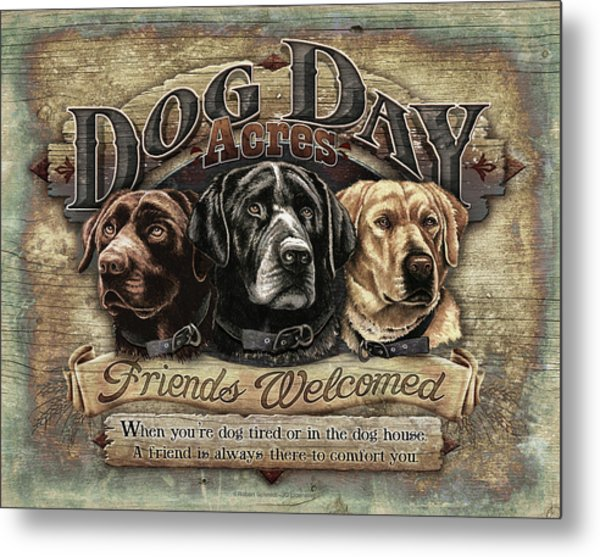 Dog Day Acres Sign Metal Print