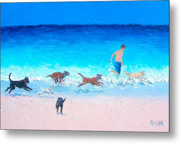 Dog Run Metal Print