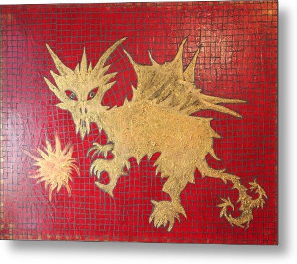 Dog Spikey The Dragon And Elizabeth The Fireball Metal Print