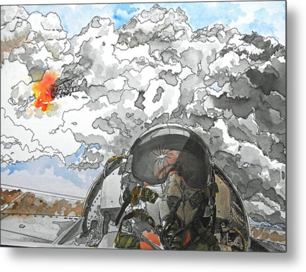 Dogfight Metal Print by D K Betts