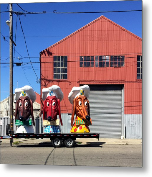 Doggie Diner Heads Metal Print
