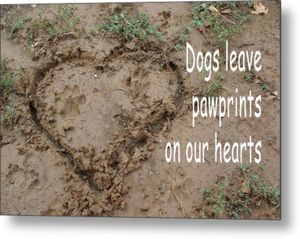 Dogs Leave Pawprints Metal Print