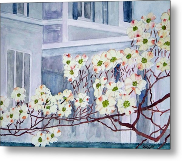Dogwood Time In Oldtown Metal Print by Larry Wright