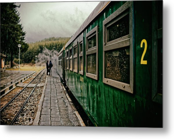 Dolene Railway Station Bulgaria Metal Print