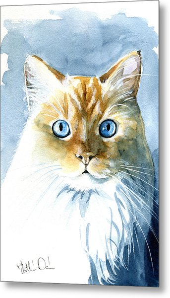 Doll Face Flame Point Himalayan Cat Painting Metal Print
