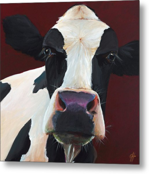 Dolly The Holstein Metal Print by Cari Humphry