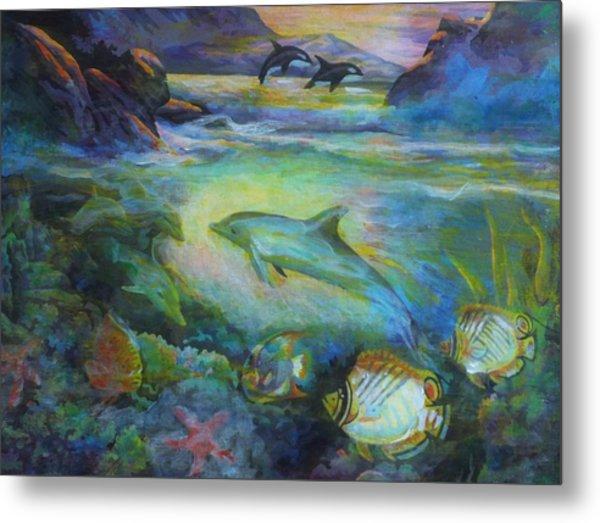 Dolphin Fantasy Metal Print