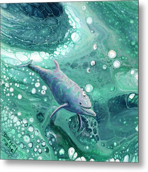 Metal Print featuring the painting Dolphin Magic by Darice Machel McGuire