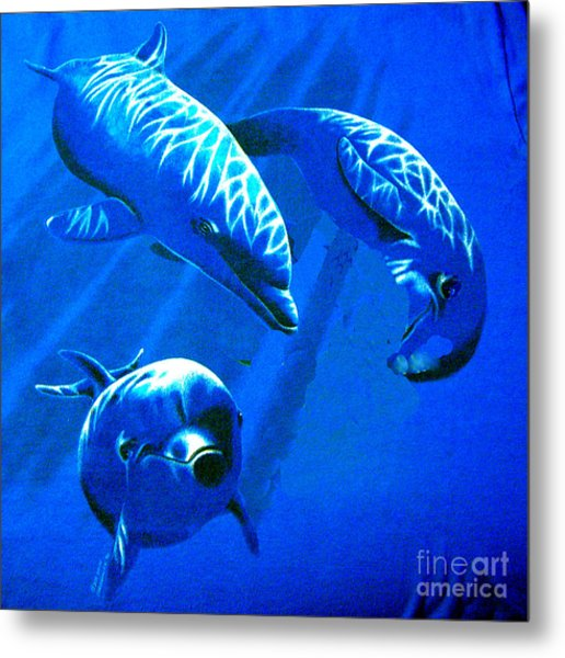 Dolphin Playing  Metal Print