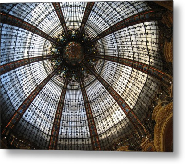Dome Of The Galleries Lafayette Metal Print by Victoria Heryet