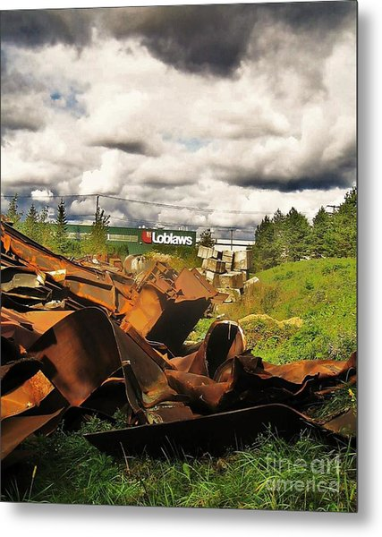 Domfer Deconstruction Twisted Metal Metal Print by Reb Frost