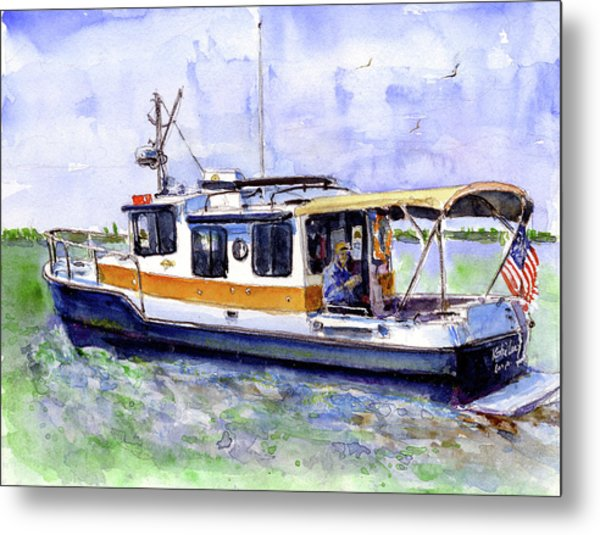 Don And Kathys Boat Metal Print