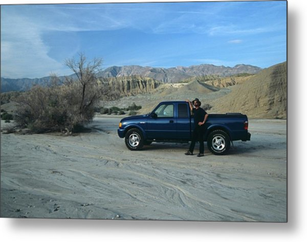 Don Kreuter And Truck In Dry Wash Metal Print