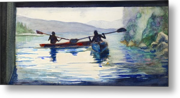 Donner Lake Kayaks Metal Print