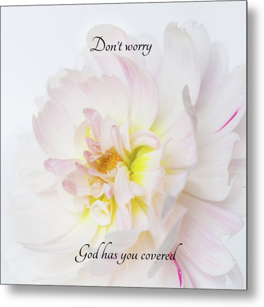 Don't Worry Square Metal Print