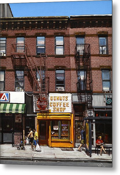 Donut Shop Metal Print by Ted Papoulas