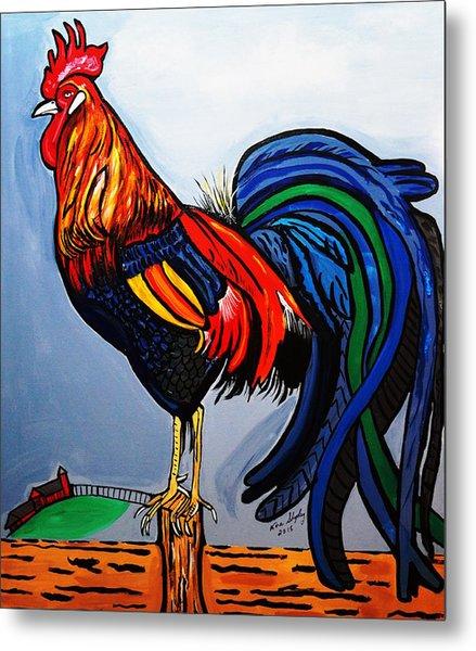 Doodle  Dum  Rooster Metal Print