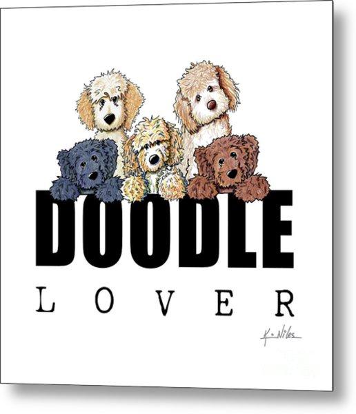 Doodle Lover Metal Print