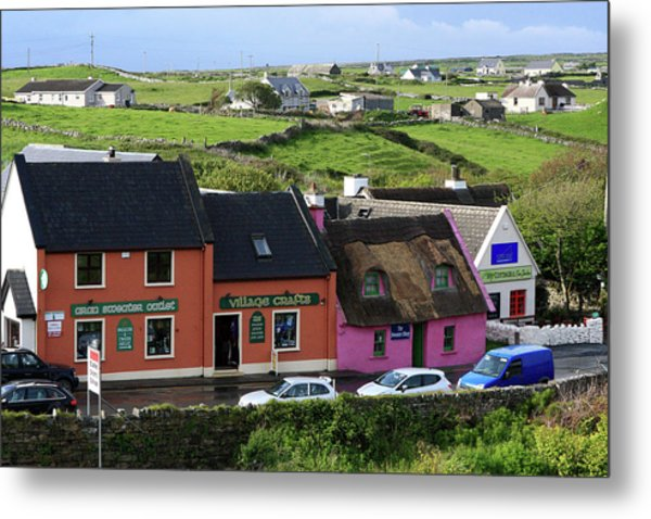 Doolin Village County Clare Metal Print