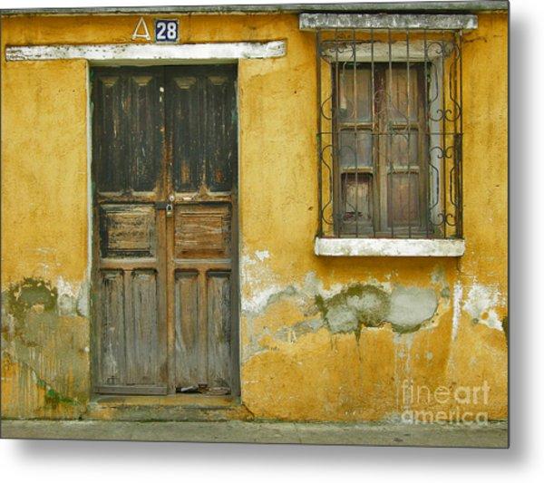 Door And Window Metal Print by Derek Selander