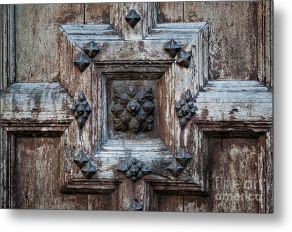 Door Fragment Of The Church Of The Jacobins Metal Print