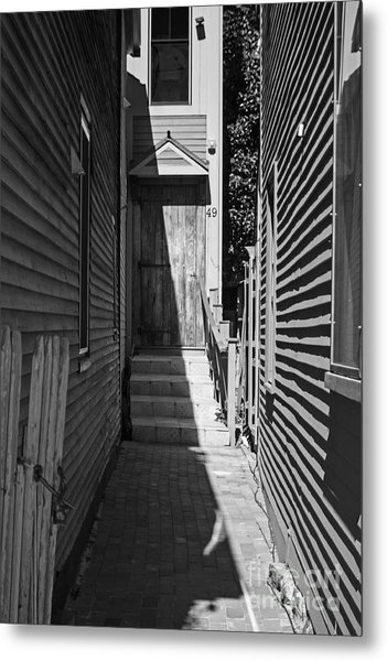 Door In An Alley Metal Print