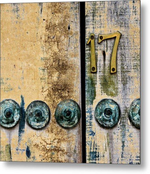 Door Number 17 In Mexico Metal Print