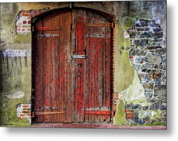 Door To Discovery Metal Print by JAMART Photography