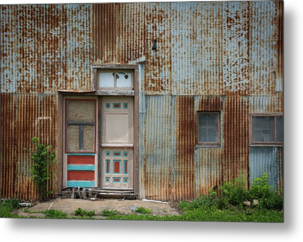 Door, Toronto, Kansas Metal Print