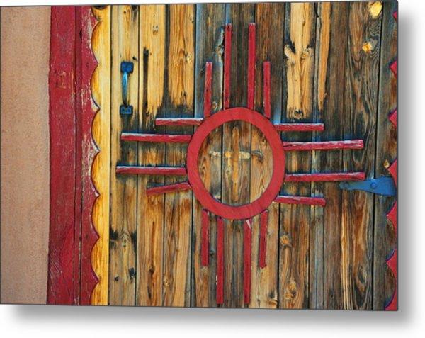 Door With Zia Metal Print