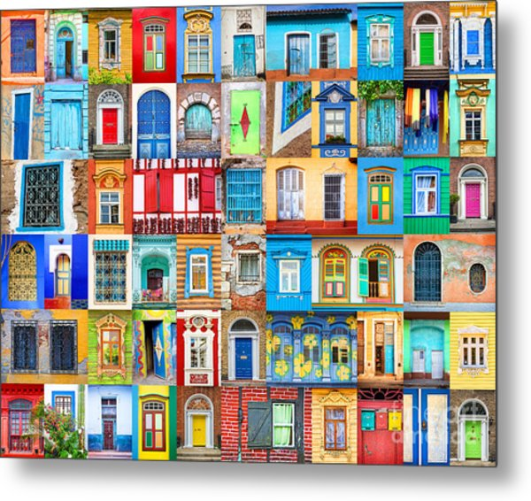 Doors And Windows Of The World Metal Print