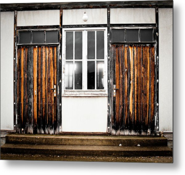 Doors Of Dachau Metal Print
