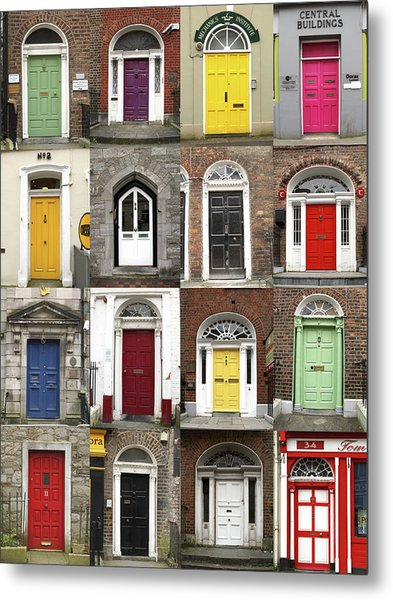 Doors Of Limerick Metal Print