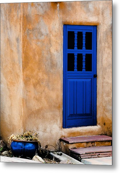 Doors Of Taos Metal Print