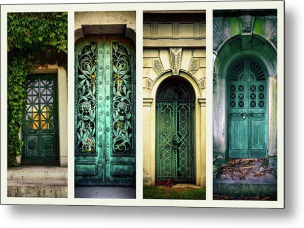 Doors Of Woodlawn Metal Print