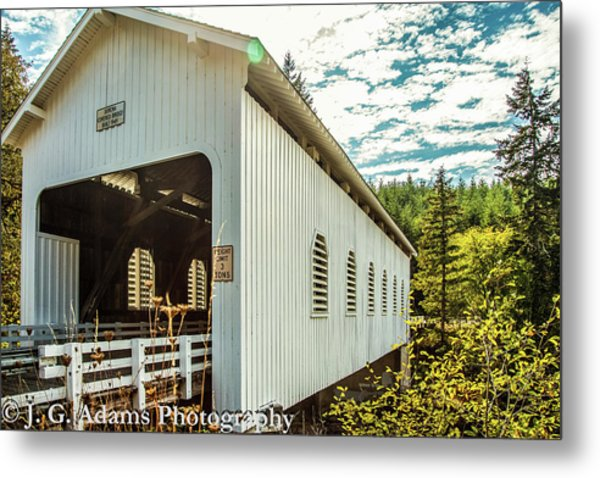 Metal Print featuring the photograph Dorena Covered Bridge by Jim Adams