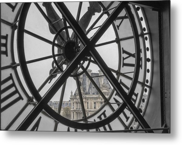 D'orsay Clock Paris Metal Print
