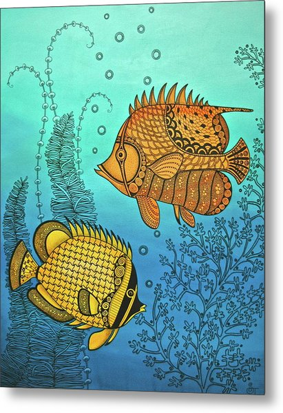 Dos Fishies Metal Print