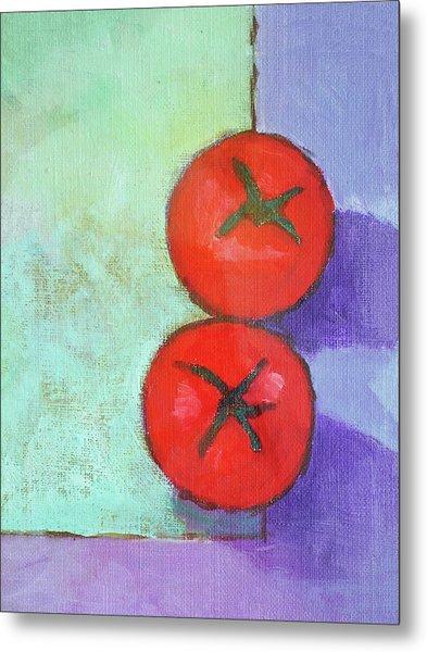Dos Tomates Metal Print by Arte Costa Blanca