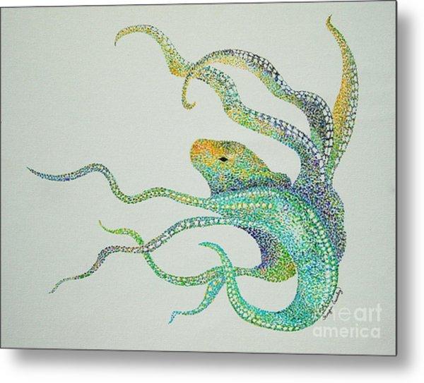 Dot Octopus Metal Print