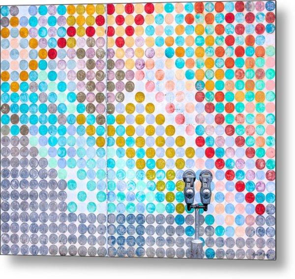 Dots, Many Colored Dots Metal Print