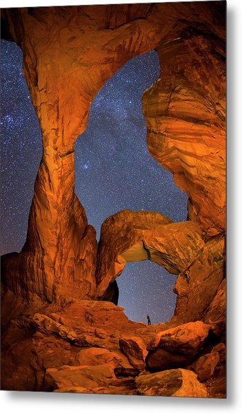 Double Arch At Night Metal Print